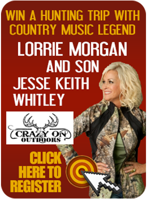 Win the Ultimate Huntrip with Lorrie Morgan.  Register with Gordo's Cheese Dio Now!